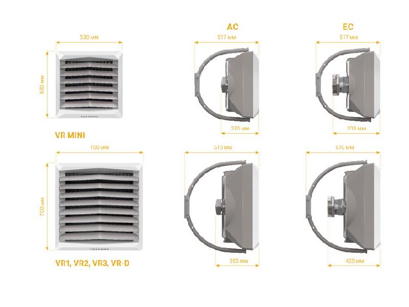 Тепловентилятор водяной VOLCANO VR1 AC